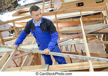 wooden boat frame