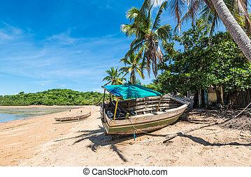 Wooden boat, Nosy Be, Madagascar