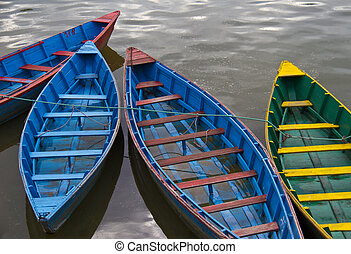 Wooden boats on the water