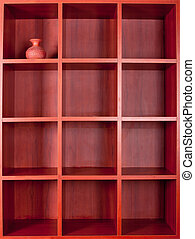 Wooden bookshelves - Wooden empty square bookshelves