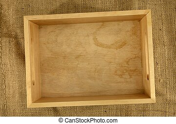 A close up shot of a wooden box