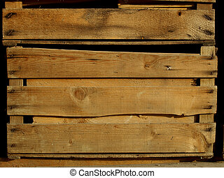 Detail of wooden box for fruit or vegetables