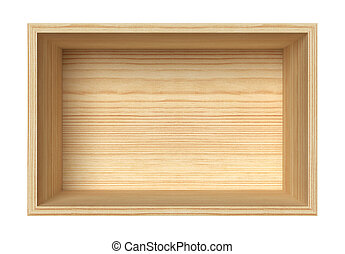 Wooden box - Empty wooden box isolated on white
