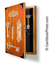 wooden box for hanging keys