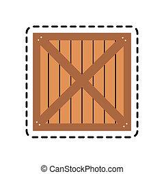 wooden box icon