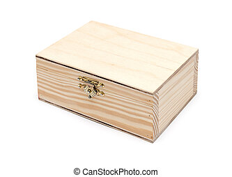 Wooden box. isolated on white background