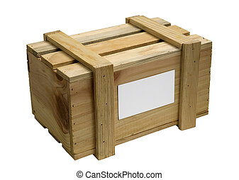 wooden box isolated on white - wooden box for packing of...