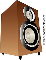 Wooden box speakers