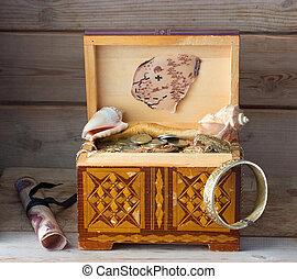 box with treasures