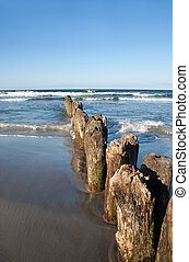 Baltic Sea - Wooden Breakwater, Baltic Sea