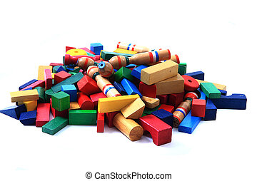 wooden bricks(toys)