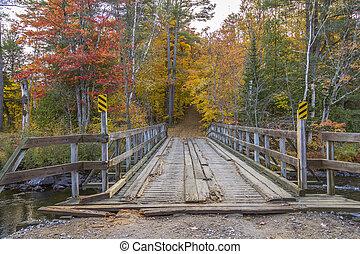 Wooden Bridge in Autumn - Ontario, Canada