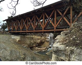 Wooden bridge in Branson, Missouri