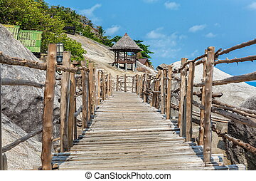 Wooden bridge in Thailand