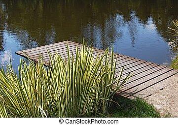 Wooden bridge on the Water