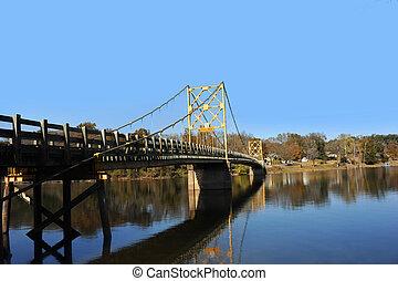 Wooden Bridge Painted Yellow - Beaver Bridge is the only ...