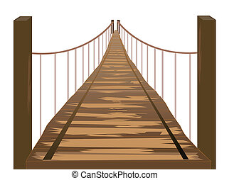 Wooden Bridge Illustration