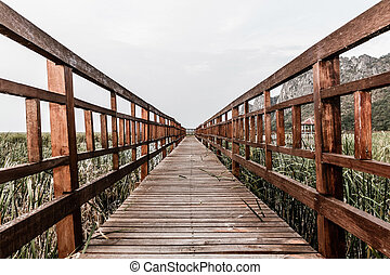 Wooden bridge