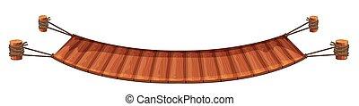wooden bridzs, white háttér