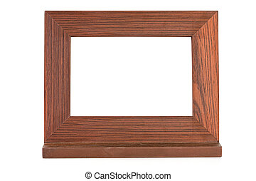 wooden brown picture frame