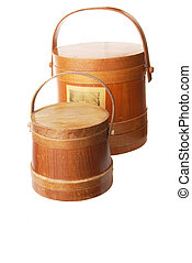 Wooden Buckets With Lids