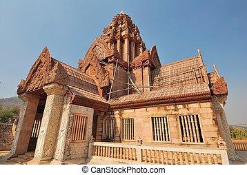 Wooden Buddhist temple