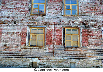 Wooden building in Old Town of Tallinn