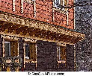 wooden building wall of a old house