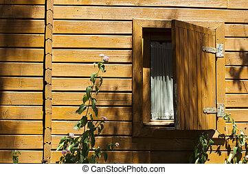 Wooden bungalow window