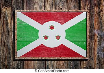 Wooden Burundi flag
