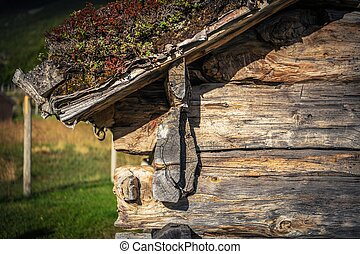 Wooden Cabin Closeup