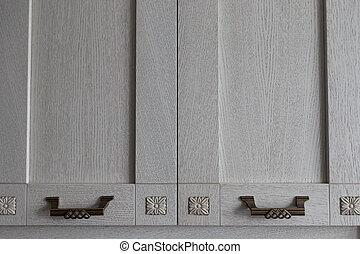 wooden cabinet doors in the kitchen