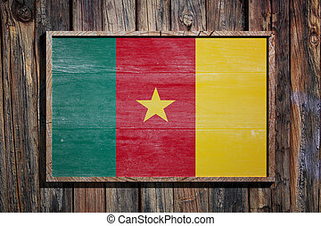 Wooden Cameroon flag