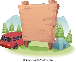 Wooden Camping Board Front Country