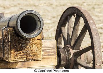 Wooden cannon replica - Man made wooden cannon replica.