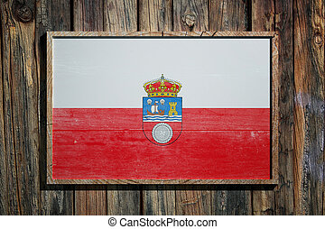 Wooden Cantabria flag