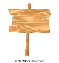 Wooden cartoon icon