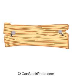 Wooden cartoon sign