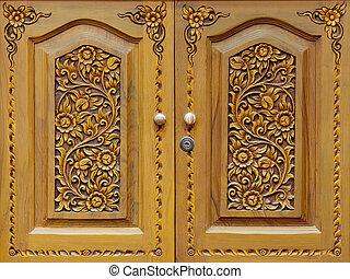 Wooden carved doors