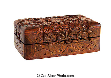 Wooden Carved handmade casket