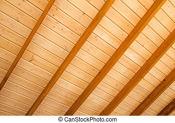 Wooden ceiling background.