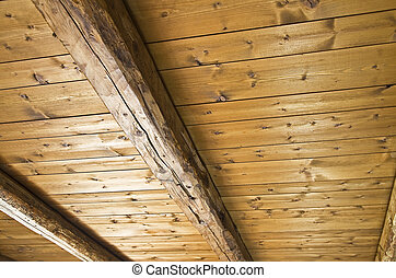 Wooden ceiling. - Background texture of ceiling made out of ...