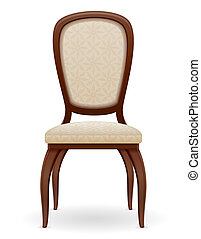 wooden chair furniture with padded backrest and seats...