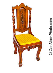 Wooden chair isolated on a white