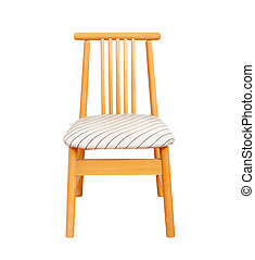 wooden chair isolated on white background.