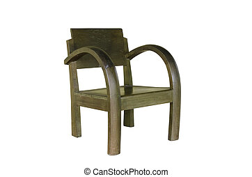 wooden chair isolated with clipping path