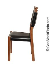 Wooden chair on white