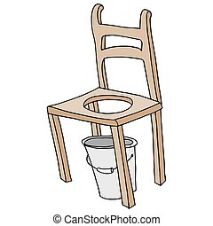 wooden chair retro commode drawing