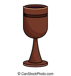 Wooden chalice wine