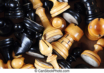 wooden chess set background